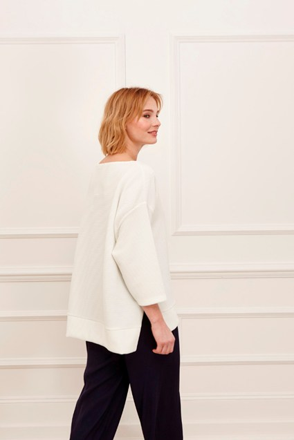Ottoman Jersey Sleeved Top
