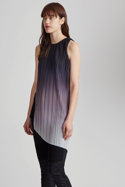 Fade Out Jersey Asymmetric Top
