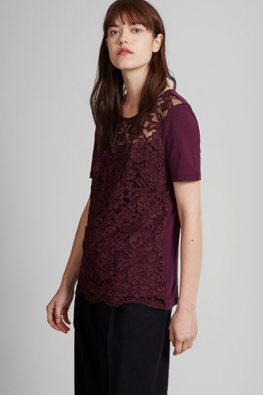 in the mix lace t-shirt