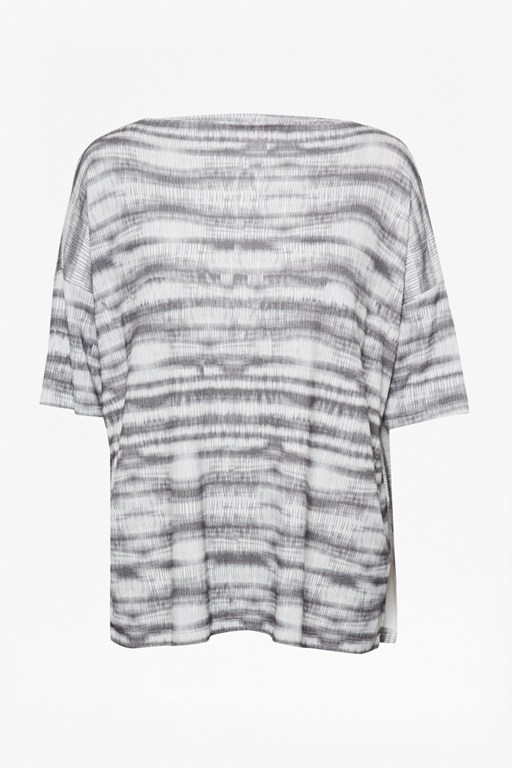 Complete the Look Sonar Stripe Slouch Longline Top
