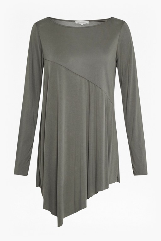 Complete the Look So Peachy Diagonal Seam Tunic Top
