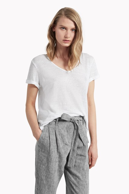 Lindy Linen V Neck T-Shirt