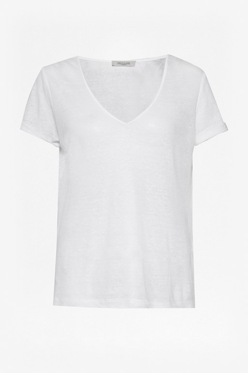 Complete the Look Lindy Linen V Neck T-Shirt
