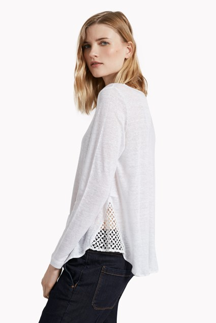Lindy Linen Lace Detail Top