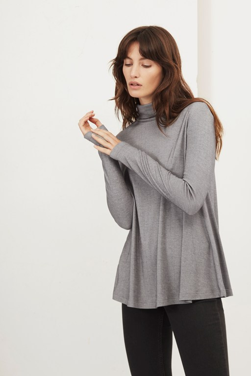 parallel lines polo neck top