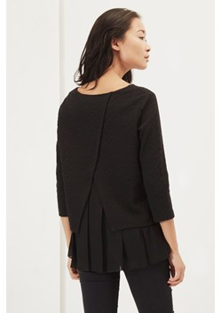 Ripple Jersey Pleated Hem Top