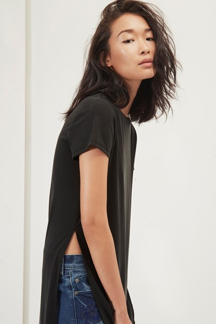Kimmy Soft Longline T Shirt
