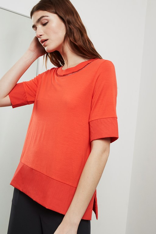 sudbury stretch contrast panel top