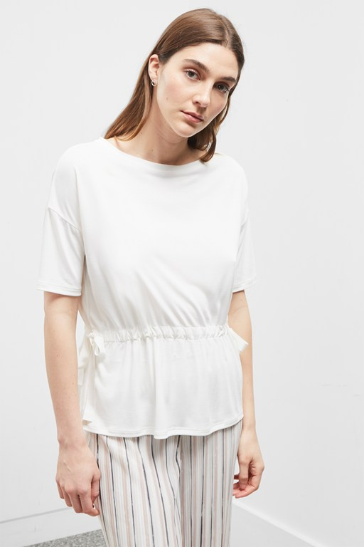 modal blend jersey belted top