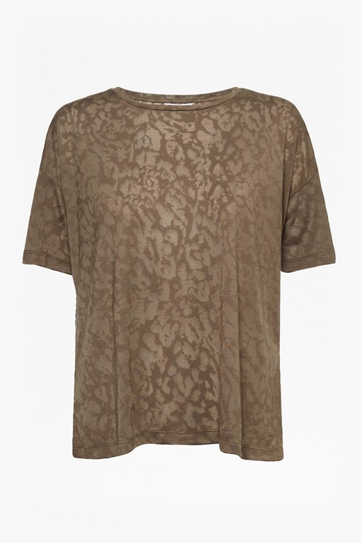 Complete the Look Feathered Leopard Burnout T-Shirt
