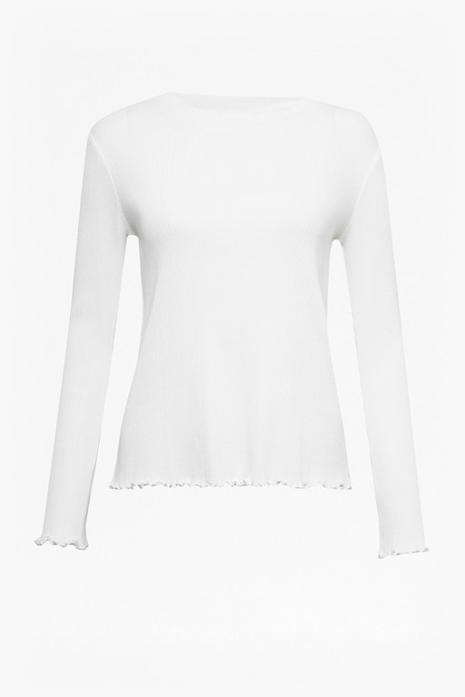 Complete the Look Fitted Rib Round Neck Top