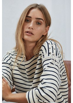 Lace Up Stripe Top