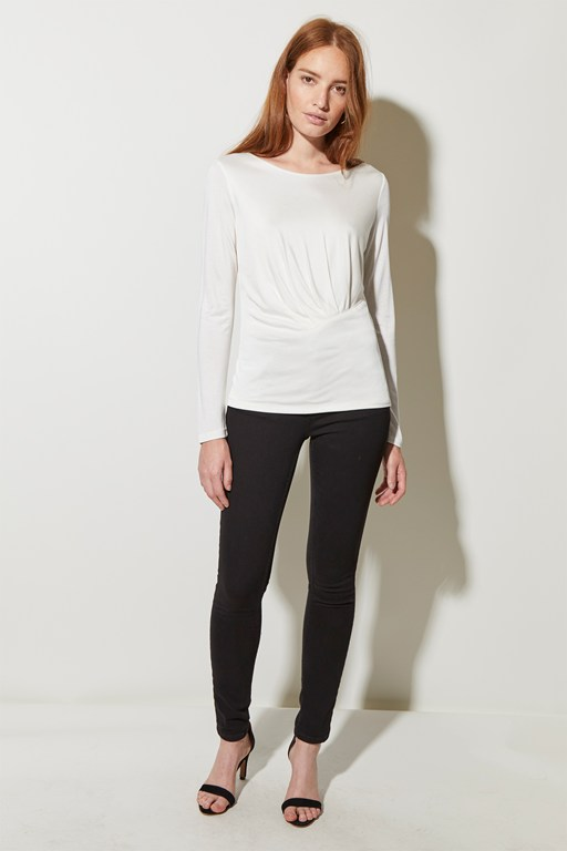 silky jersey crew neck top