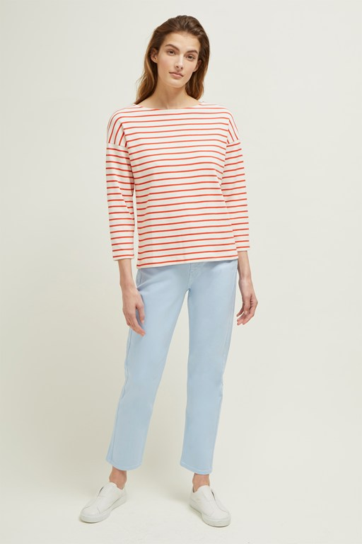 monroe stripe boat neck top