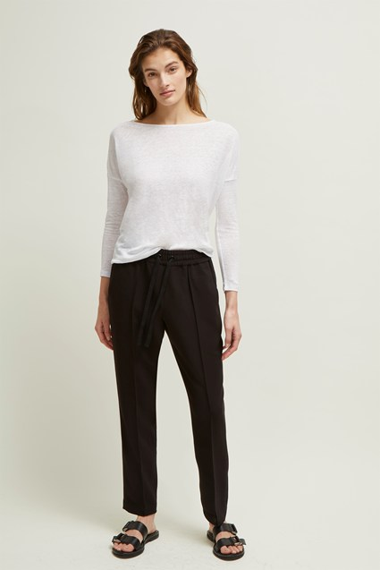 Dakota Linen Slash Neck Top