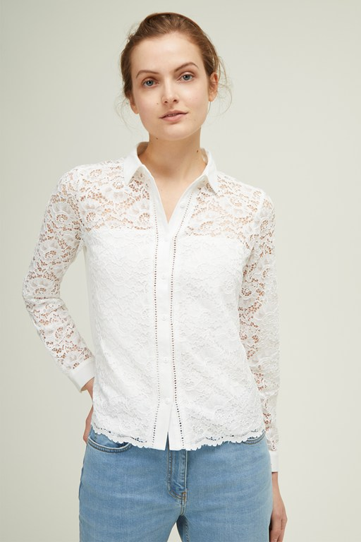 floral lace mix shirt