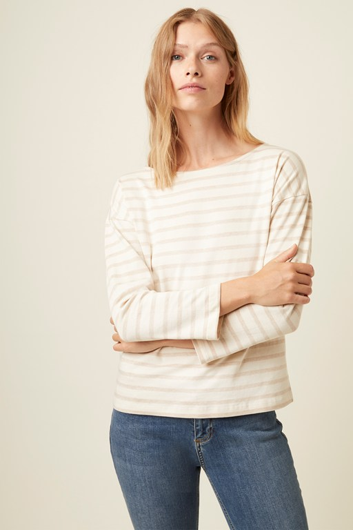 leonie stripe long sleeve top