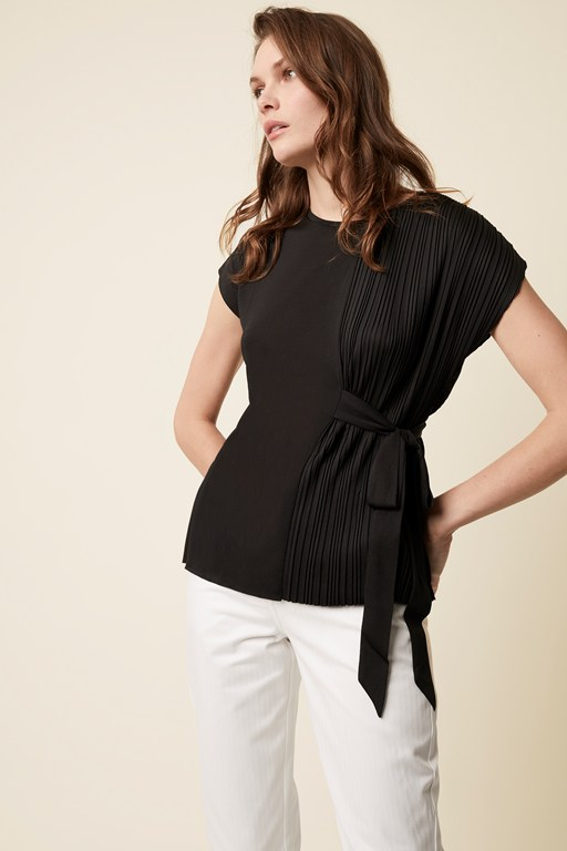 cara pleat jersey top