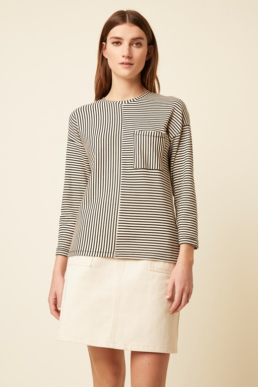 pisa stripe long sleeve top