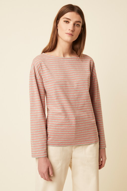 bebe breton long sleeve top