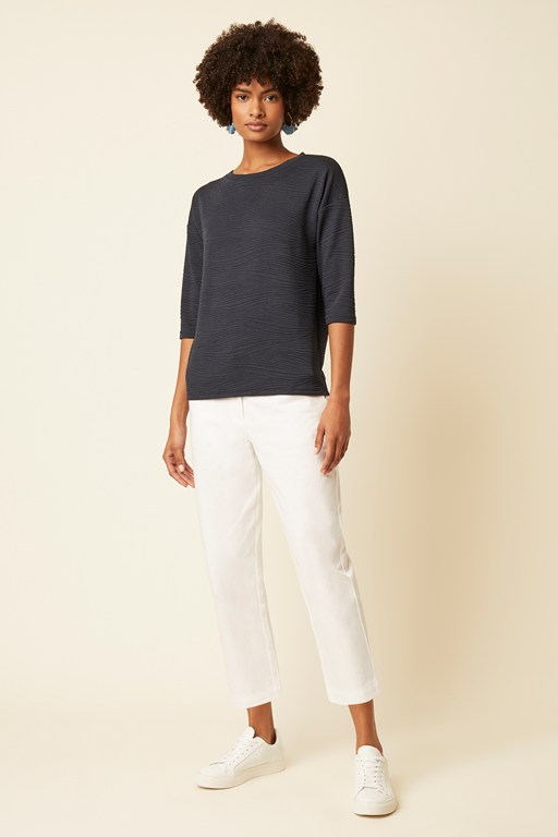 pheobe textured jersey top