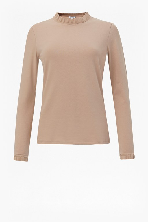 frill neck jersey top