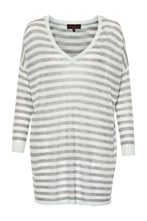 marella striped v-neck top