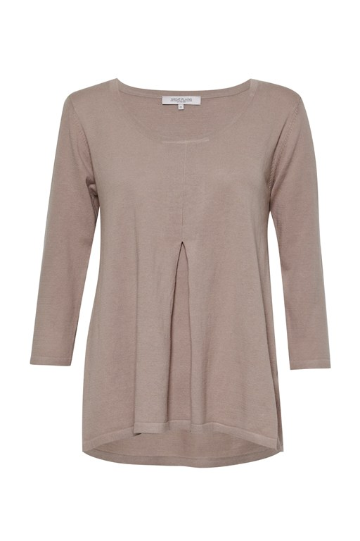 daria pleat front top