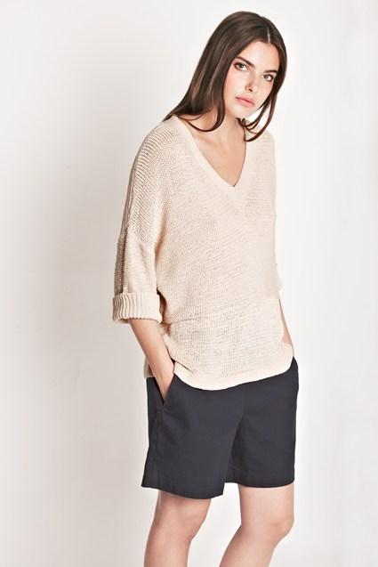 Mariam Textured V-Neck Top