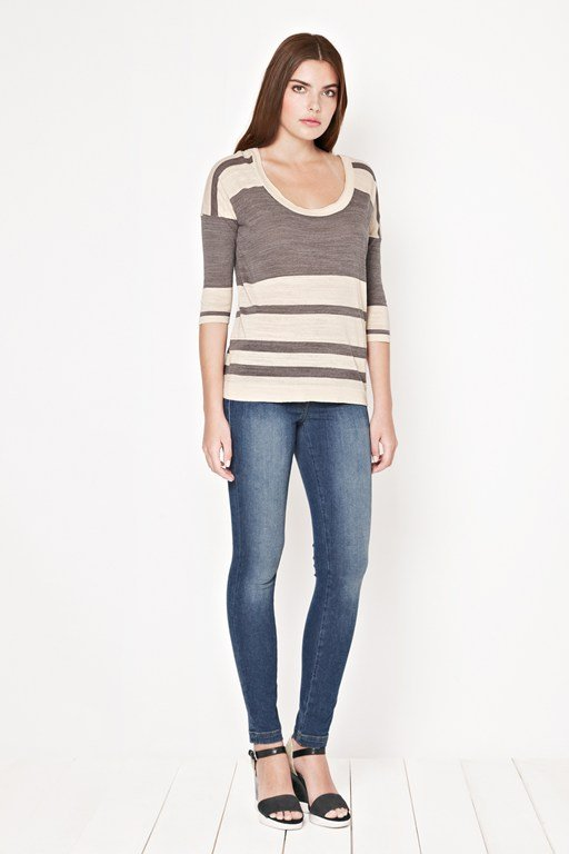 big band striped top