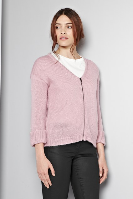Fancy Nancy Zip-Up Cardigan
