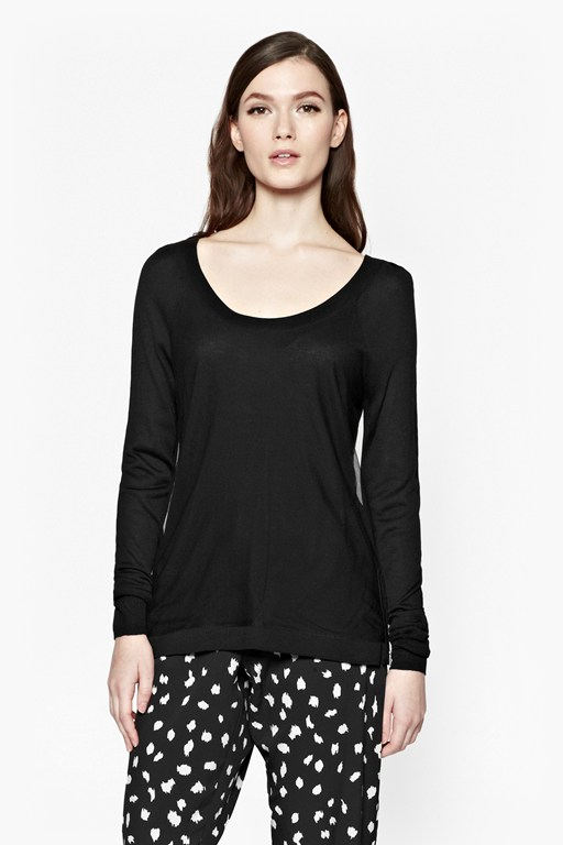 mish mesh zip detail jumper