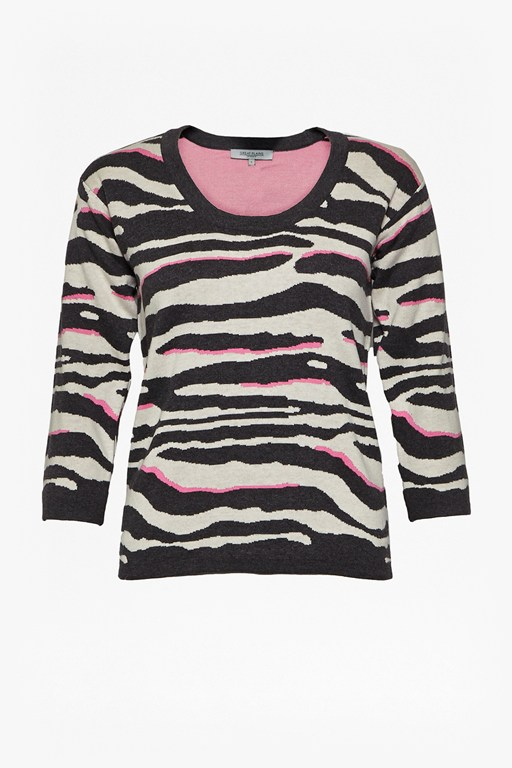 studio 54 zebra cotton jumper