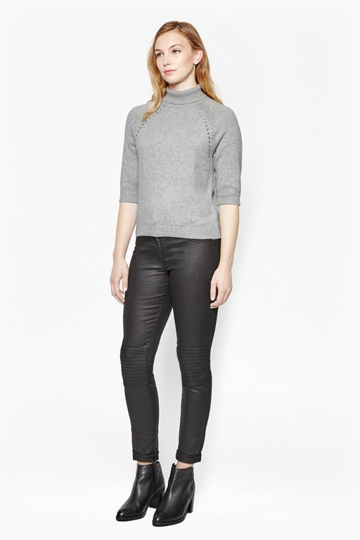 heavenly roll neck knit