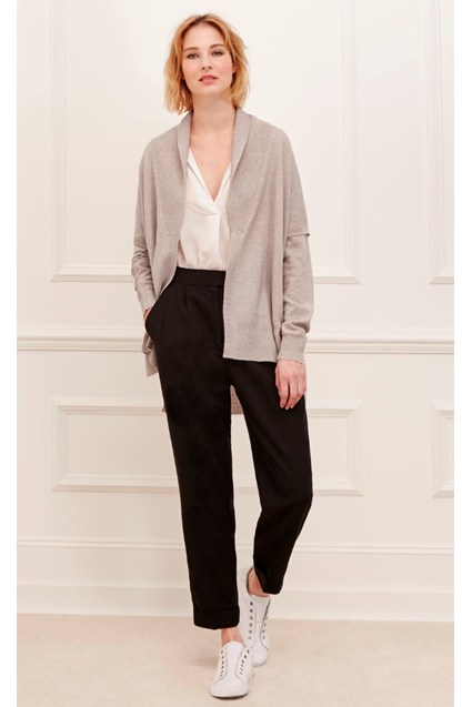 Rania Cashmere and Wool Blend Cardigan