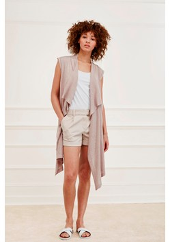 Katherine Silk Mix Sleeveless Cardigan