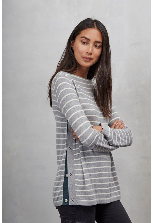 Sirri Striped Popper Jumper