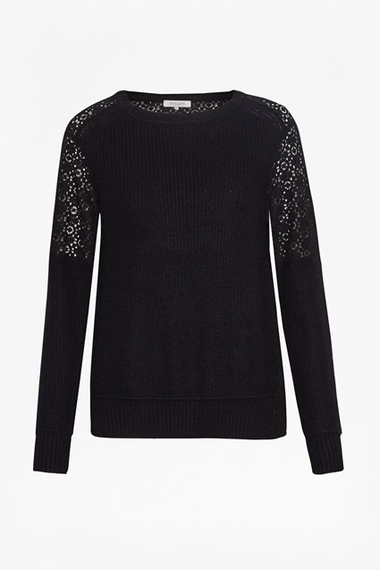Louvre Lace Rib Detail Sweater