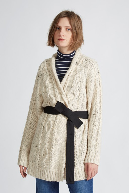 jazz cable cardigan