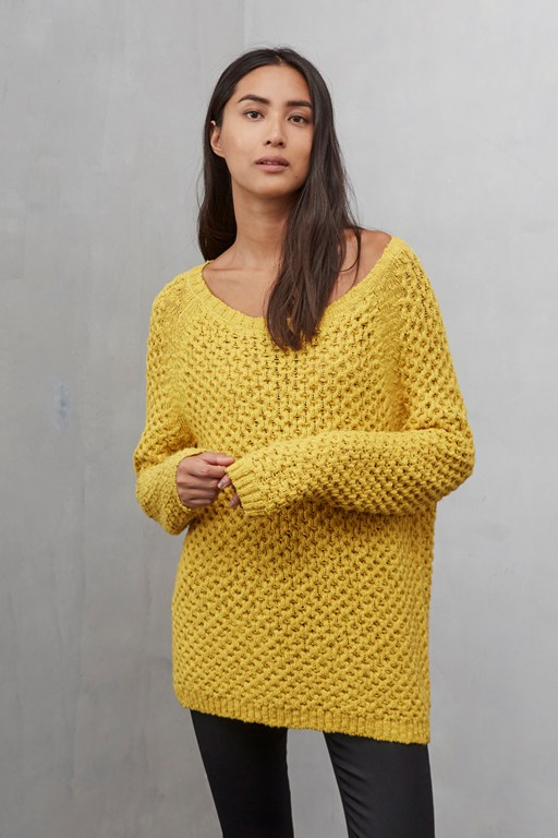 textured tonic bow tie tunic jumper
