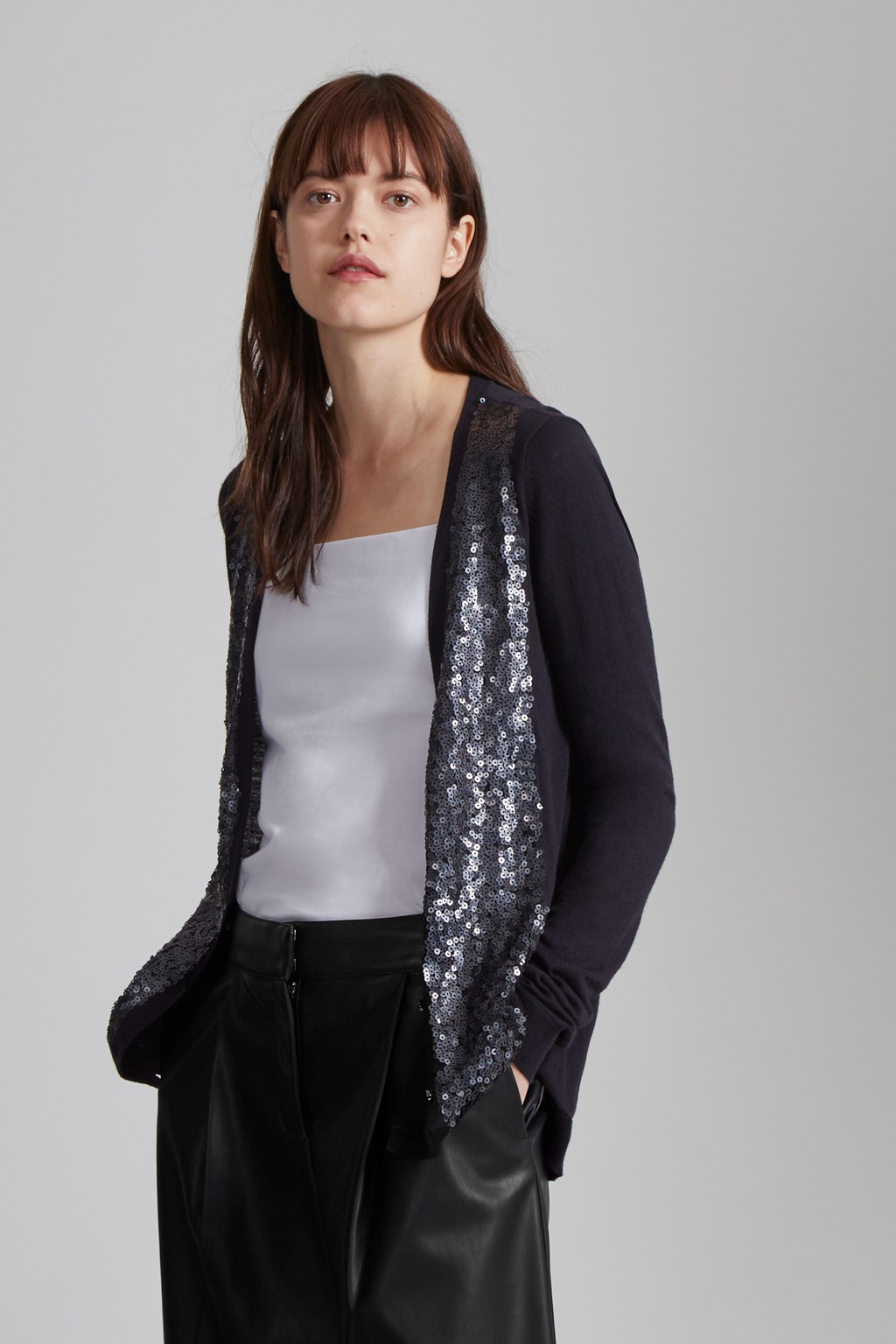 Garbo Sequin Cardigan | Imported | Great Plains