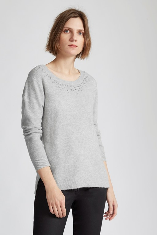 otto knits embellished jumper