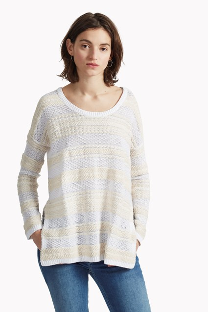 Weaver Knit Crew Neck Jumper