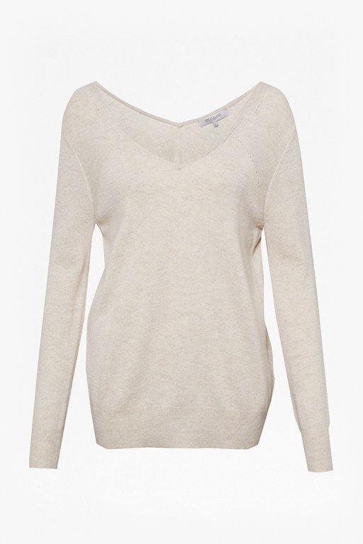Complete the Look Carlotta Cashmere V Back Jumper