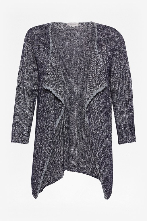 Complete the Look Cara Speckle Crochet Cardigan
