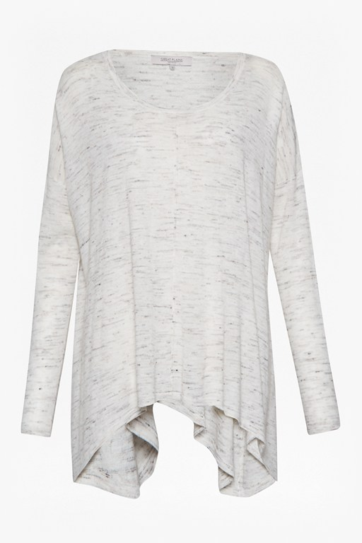 Complete the Look Luset Linen Blend Handkerchief Hem Jumper