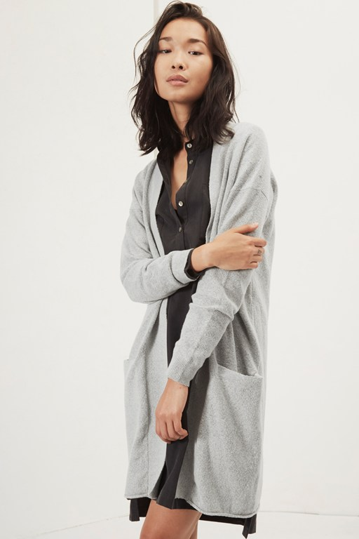 essentials vespa knit long cardigan