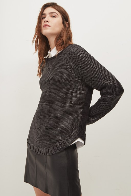 lennox coated knit jumper