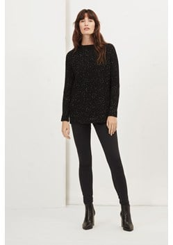 Speckle Knit Polo Neck Jumper