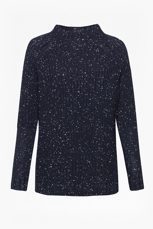 Complete the Look Speckle Knit Polo Neck Jumper